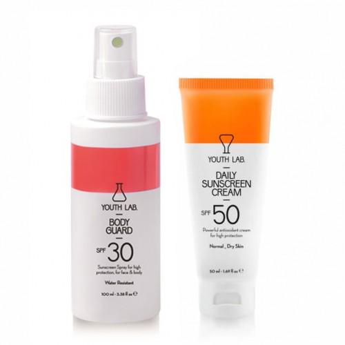 Daily Sunscreen Cream SPF50 & Bodyguard SPF30 - Combo