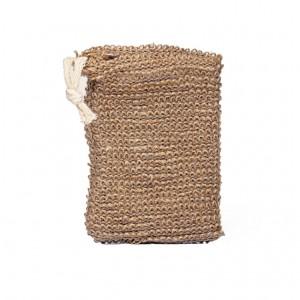 Φυσικό πουγκί σαπουνιού από sizal και jute για καθαρισμό και απολέπιση