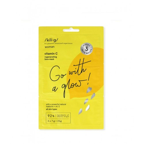 Go with a Glow - Vitamin C Regenerating Face Mask 3x7gr