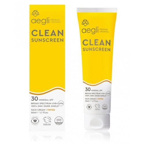 Clean Sunscreen SPF30 - Tinted Face Cream