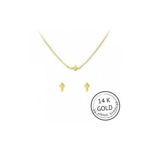 Faith in Fashion Necklace & Earring Set (GOLD)