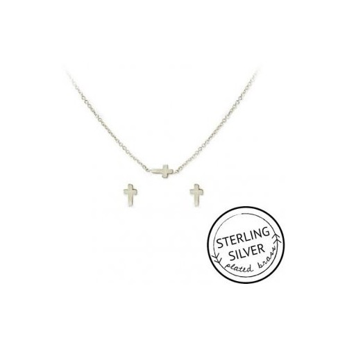 Faith in Fashion Necklace & Earring Set (SILVER)