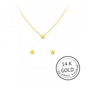 Starry Eyed Necklace & Earring Set (GOLD)