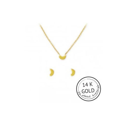 Moon-umental Necklace & Earring Set (GOLD)