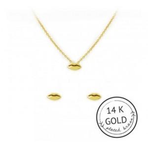 Kiss-Met Necklace & Earring Set