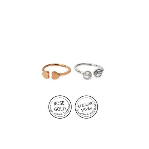 Peace Of My Heart Ring Set