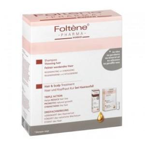 Foltene Hair & Scalp Treatment Woman Αμπούλες &Τhinning Hair Shampoo