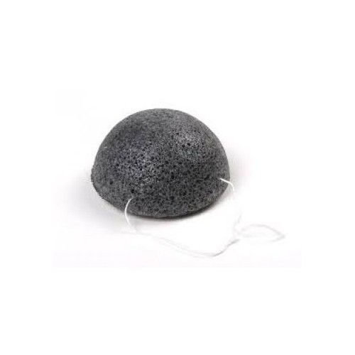 The Simply Konjac Sponge Half Ball Black