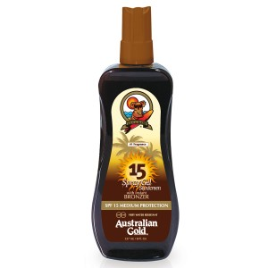 Spf 15 Spray Gel with Bronzer  Cocoa Dreams