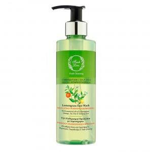 Λεμονόχορτο - Ρυθμιστικό Τζελ Καθαρισμού με πορτοκάλι & τσαγόδεντρο - για μικτό / λιπαρό δέρμα