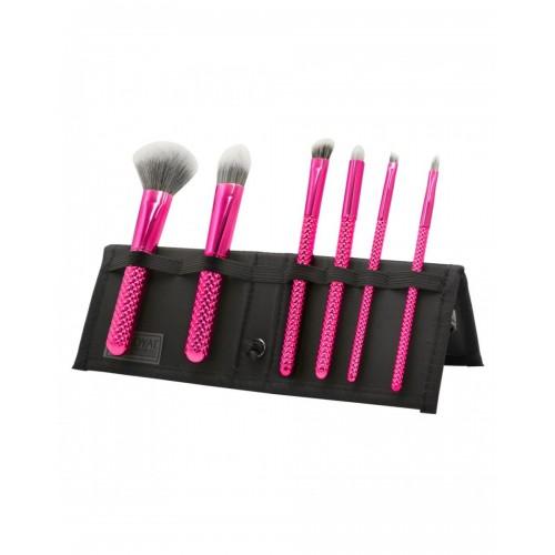 Moda Metallics Total Face Brush Set Hot Pink